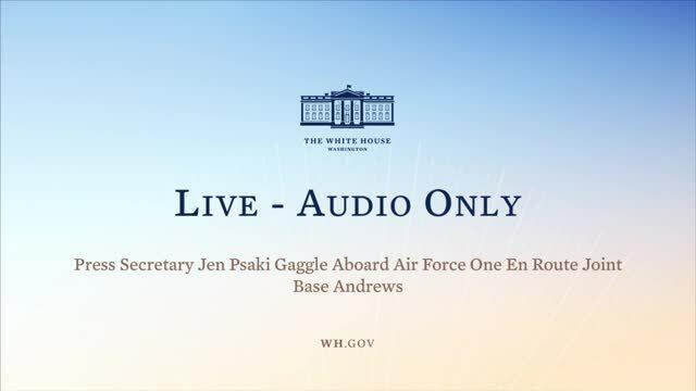 Jen Psaki Gaggle Aboard Air Force One 9/21/21